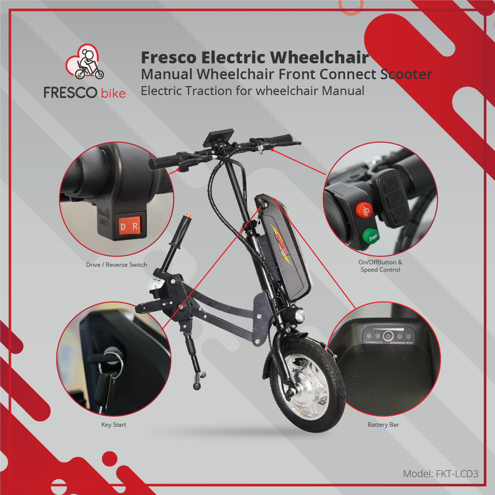ELECTRIC WHEELCHAIR TO MANUAL WHEELCHAIR FRONT CONNECT SCOOTER