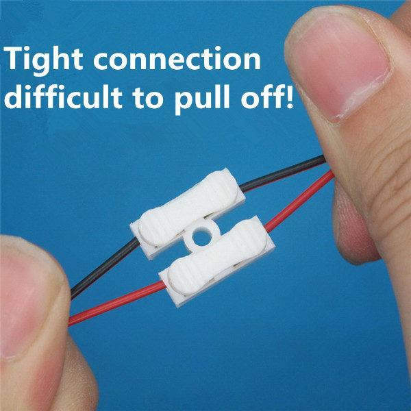 Electrical Cable Connector Quick Splice Lock 2 pin Wire Terminals
