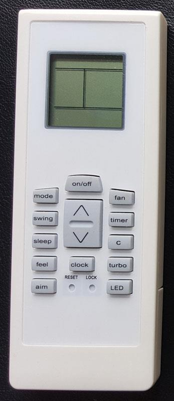 Electrolux Air Conditioner Remote Control RG01/BGCEF-EKBR RS01\BGCEF-E
