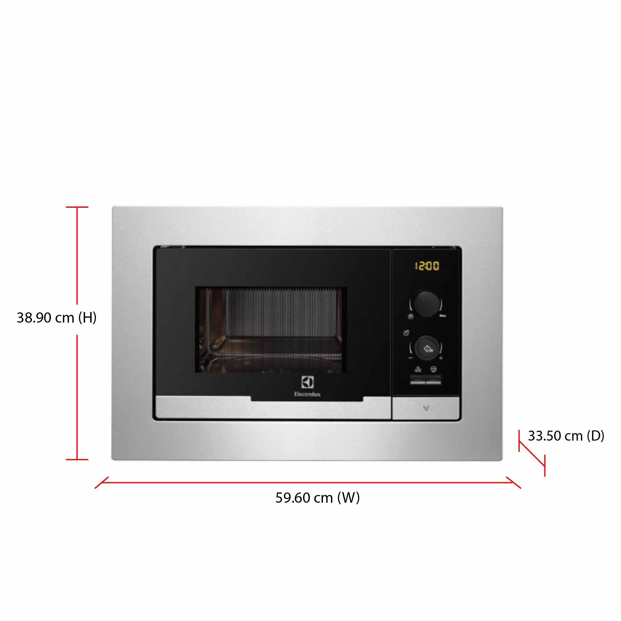 Product Description Electrolux 60 Cm Semi Built In Microwave Oven
