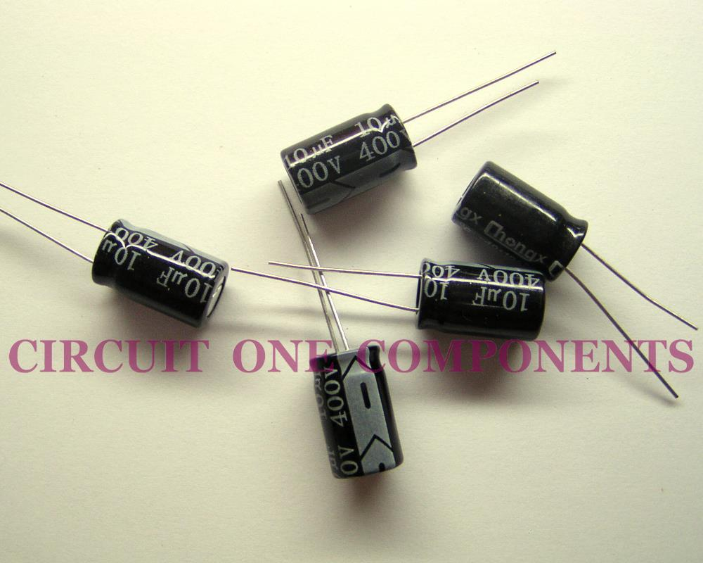 Electrolytic Capacitor 10uF 400v Servicing Part - Each