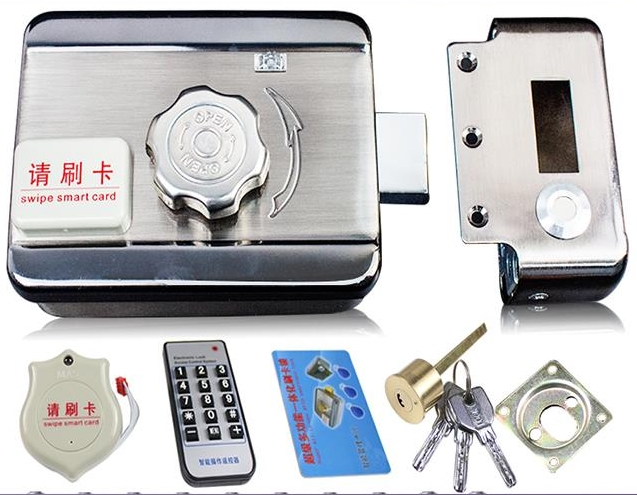 electronic card access remote sensors ID encry DOOR LOCK