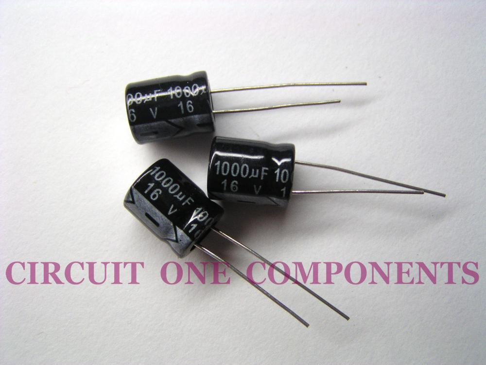 Electronic Component - 1000uF 16v Electrolytic Capacitor - Each
