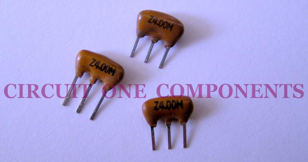 Electronic Component - 4.0 Mhz ceramic resonator 3 pin - each
