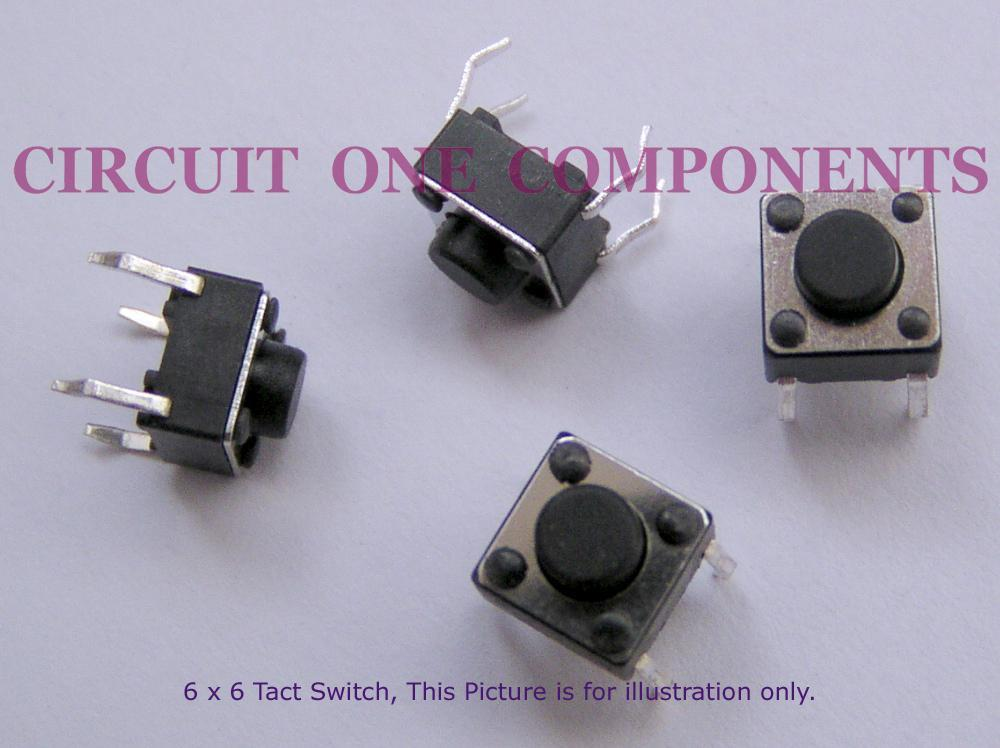 Electronic Component - 6x6x4.3mm Tact Switch - each
