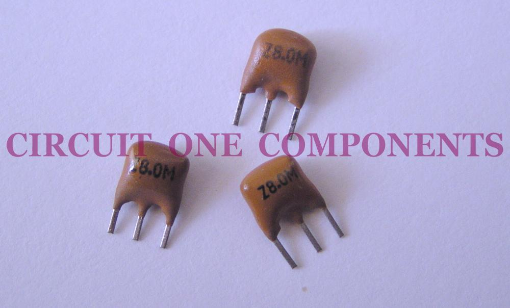 Electronic Component - 8.0 Mhz ceramic resonator 3 pin - each