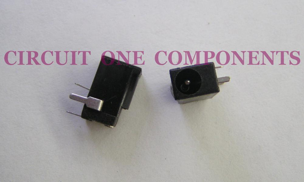 Electronic Component - DC002 3.5 x 1.1mm DC Socket - each