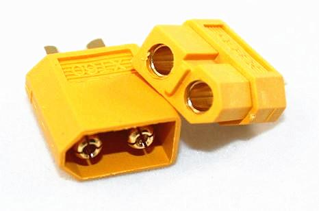 Electronic Component Yellow Drone RC XT60 Li Po Battery Connector