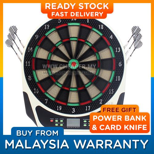 Electronic Dart Board DartBoard Set 18' Darts 16 Players