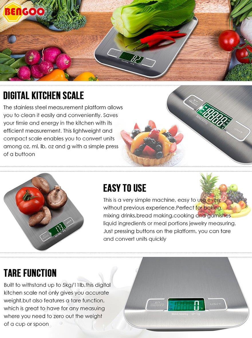 Electronic Digital Kitchen Scale Wei (end 5/27/2018 3:15 PM)