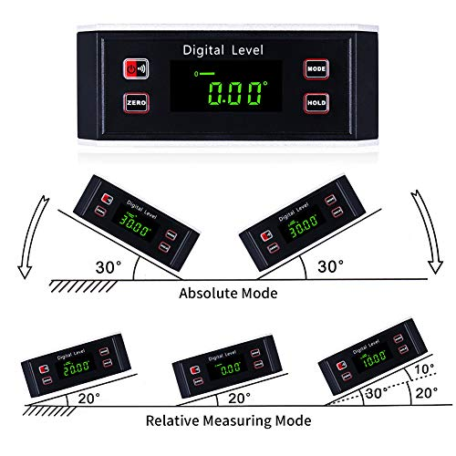 Electronic Inclinometer, Digital Protractor/Level/Angle Finder and Gauge Tools