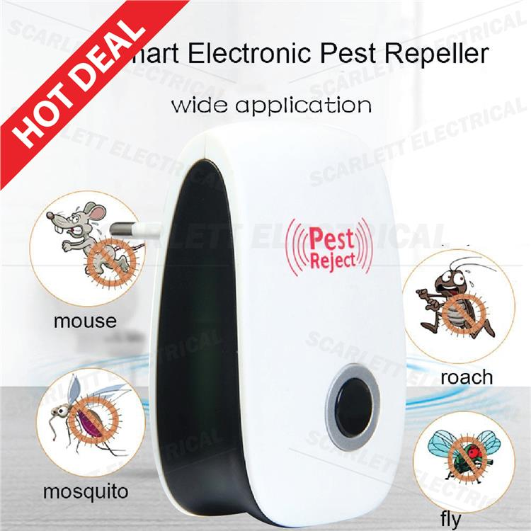 Electronic Pest Repeller Pest Control Rejector Bug Mosquito Rat Roach