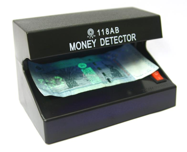 Electronic Portable Money Detector Battery Operated Banknote Scan UV