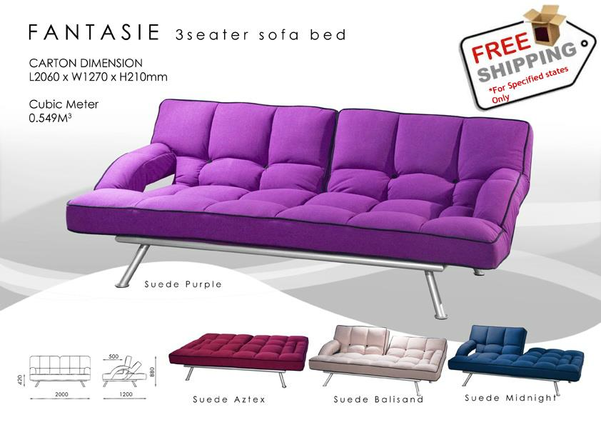 Elegant 3 Seater Sofa Bed Convertible (*Free Delivery)