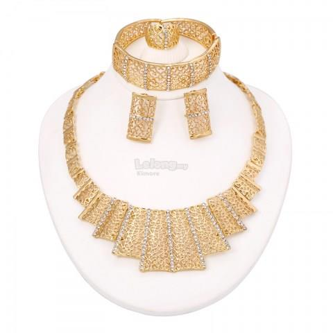 Elegant Charms  Dubai Gold Plated Jewelry Set