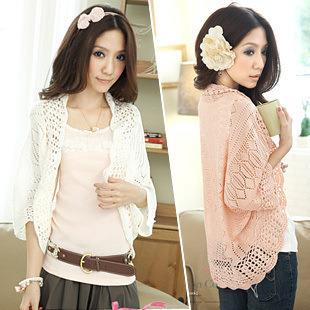 Elegant Hollow Knit Jacket (Many Colour Can Choose)
