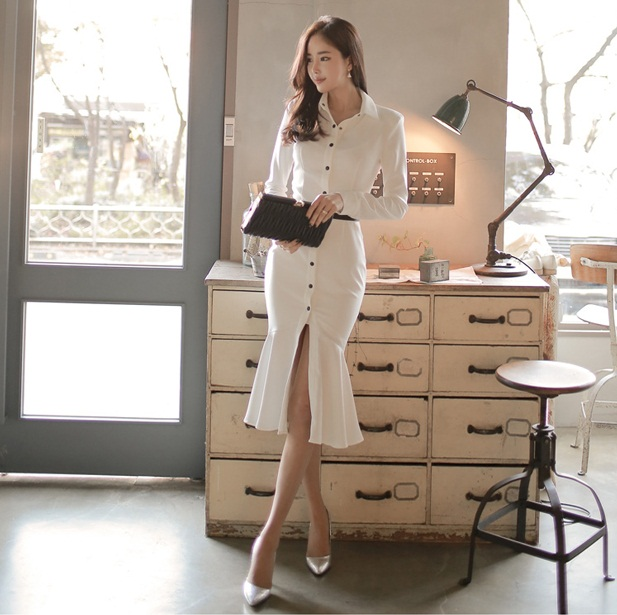0a97aae47c6 Elegant Korean Long Sleeve Midi Dress (end 3 2 2020 4 35 PM)