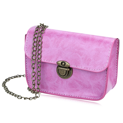 Elegant Latch Chain Geometric Lady Shoulder Messenger Mini Bag
