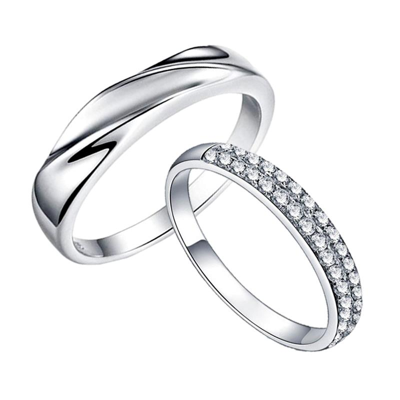 Elfi 925 Genuine Silver Couple Ring C31