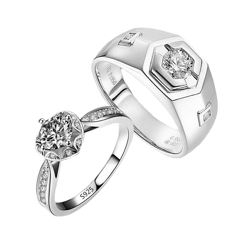 Elfi 925 Genuine Silver Couple Ring C69