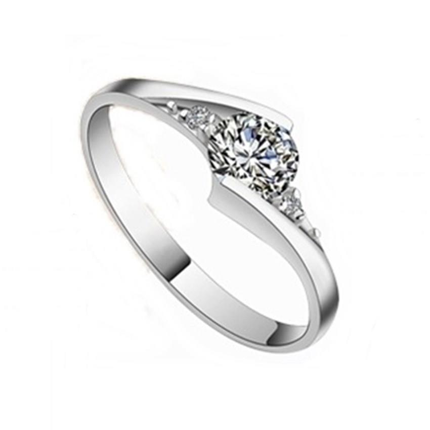 Elfi 925 Genuine Silver Engagement Ring P1 - The First Love
