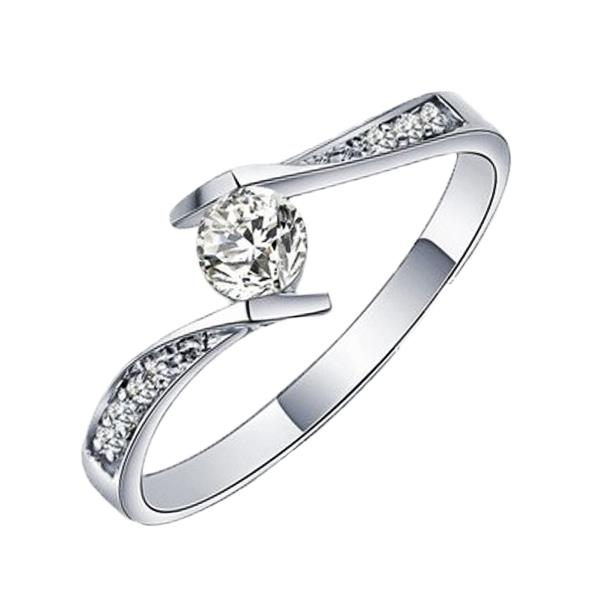Elfi 925 Genuine Silver Engagement Ring T1 - The Final Love