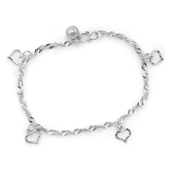 Elfi 925 Genuine Solid Silver Water Wave Anklet SA-7M