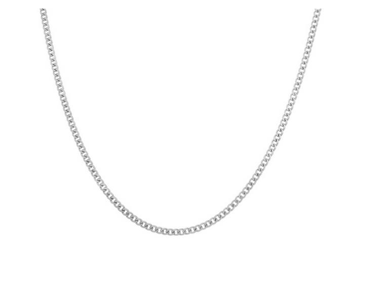 Elfi 925 Silver Curb Necklace Chain