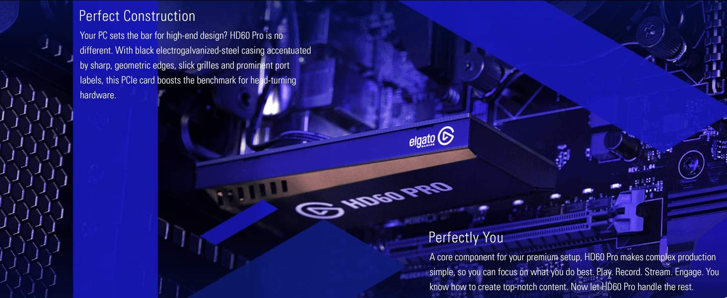 ELGATO Game Capture 4K60 PRO PCIE Game Recorder - 4K 60FPS