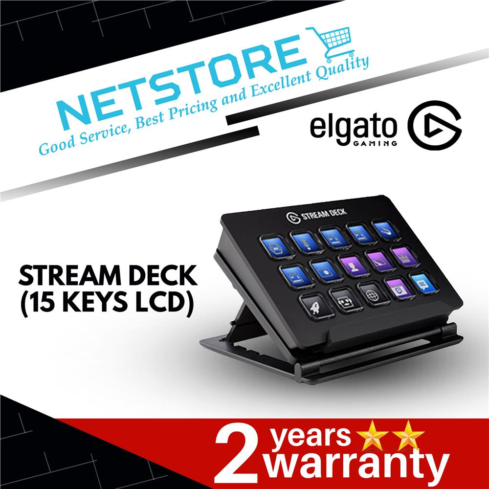 Elgato Stream Deck - Live Content Creation Controller with 15 Keys LCD