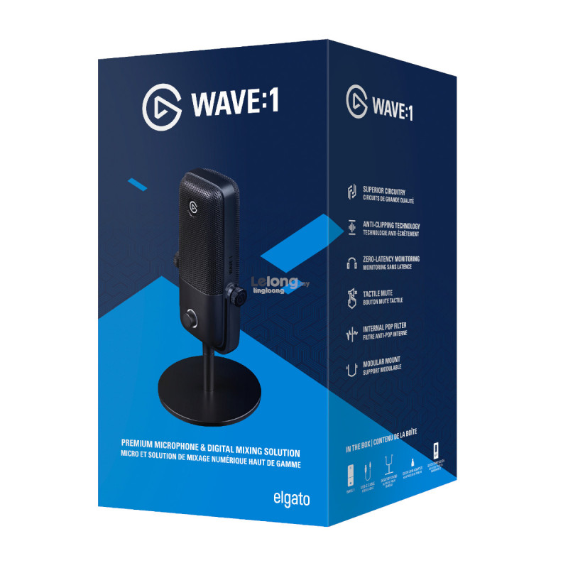 # ELGATO Wave:1 - USB Condenser Microphone and Digital Mixer #