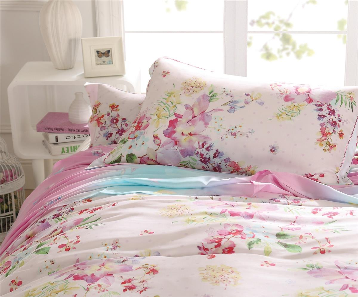 ELISE:Valencia Prints Tencel Perry Queen Bedsheet
