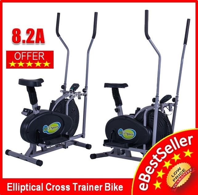 Elliptical Cross Trainer Cardio & Fitness Exercise Bike LCD Display