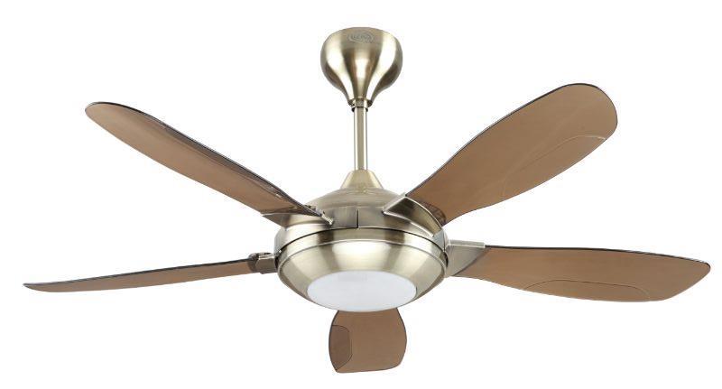 Elmark 48 Remote Ceiling Fan With Led Light El346 Antique Brass