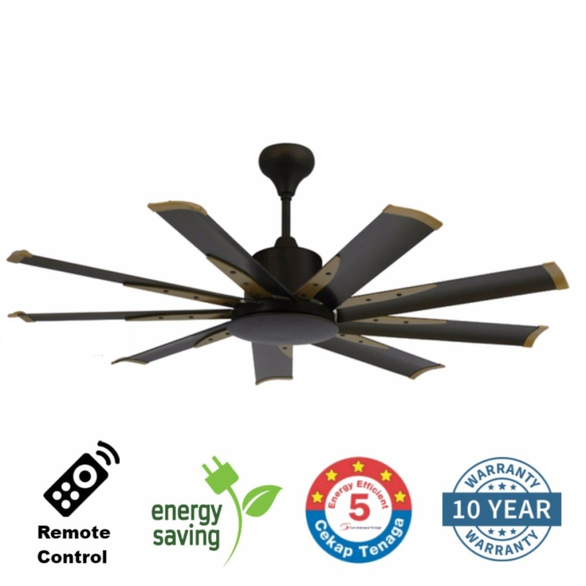 Elmark 9he60 60 inch 9 blade remote end 4222020 1050 am elmark 9he60 60 inch 9 blade remote ceiling fan dc motor mozeypictures Images