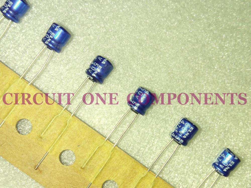ELNA 4.7uF 50v Audio Electrolytic Capacitor - Each