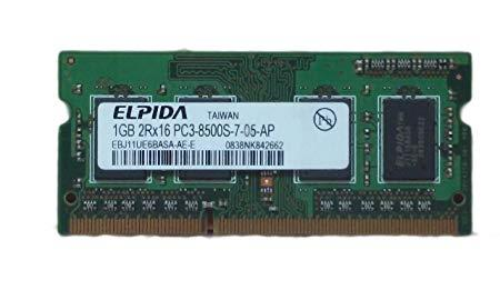 Elpida SODIMM 1GB DDR3 1066MHz PC3-8500 Laptop RAM