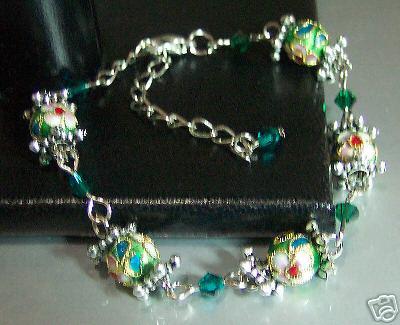 Emerald GREEN Bracelet Cloisonne  S (end 4 28 2019 11 53 AM) 363b5c9b5c