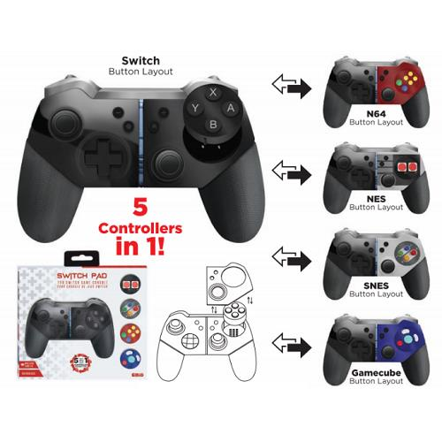 EMiO Nintendo Switch Pad for Nintendo 5 in 1 pro controller