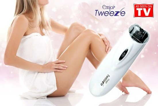 Emjoi Tweeze Automatic Facial & Body Hair Remover Full Set