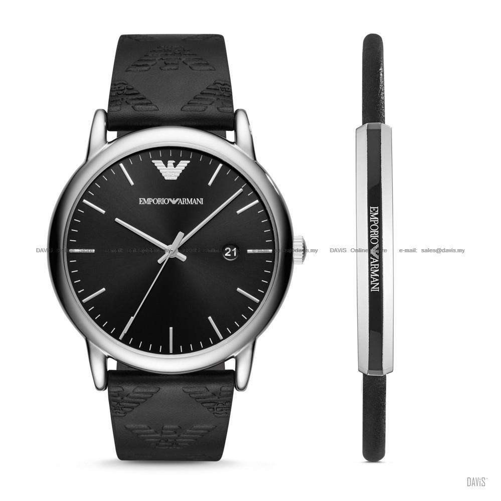 offrire sconti vendita outlet sfumature di EMPORIO ARMANI AR80012 Men's Silicone Watch & Bracelet Gift Box Set