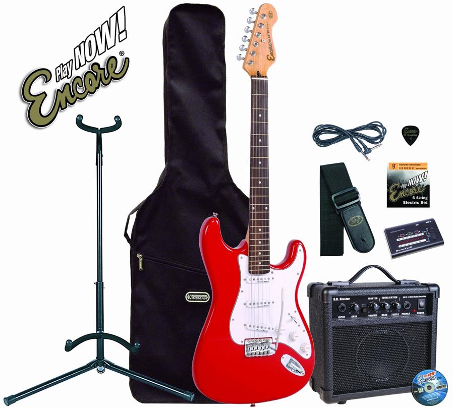 Encore Electric Guitar PACKAGE EBP-E6 RED