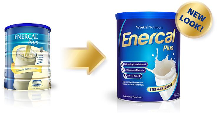 Enercal Plus Complete Nutrition Milk 900g X 2tins + FREE Gift