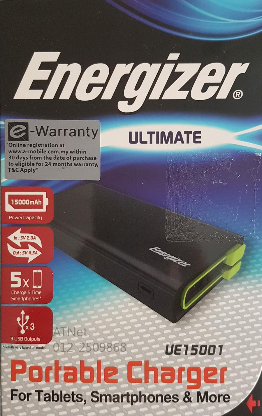 ENERGIZER 15000MAH 4.5A PORTABLE CHARGER UE15001