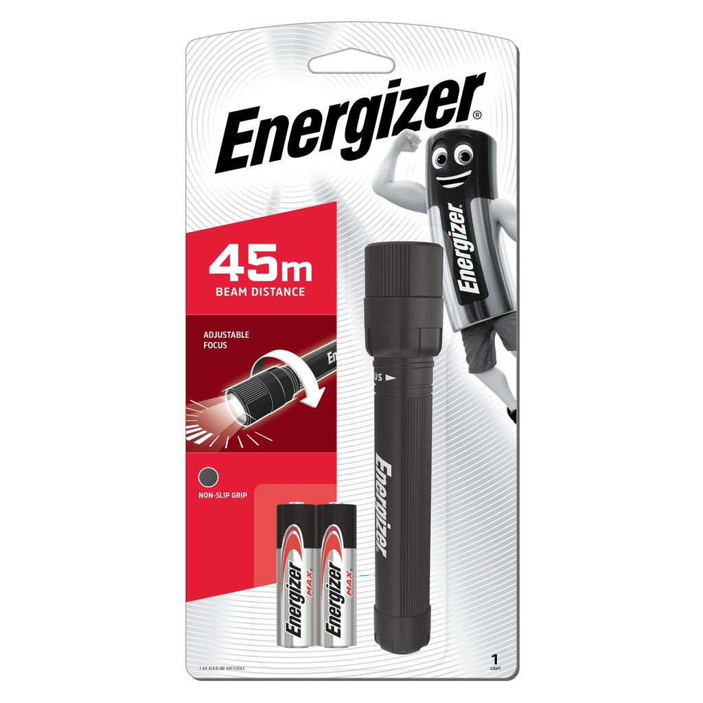 Energizer LED X-Focus Lights 45m Beam Distance with 2pcs AA Batteries