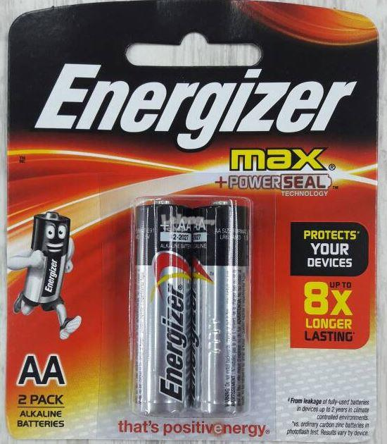Energizer MAX Power Seal Batteries AA 2pack (E91BP2)