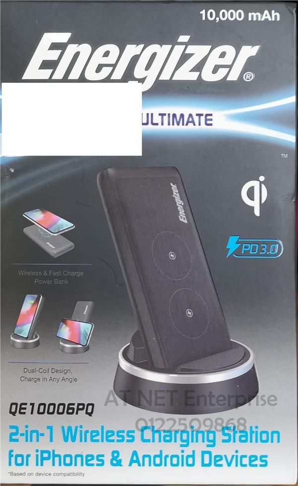 ENERGIZER QE10006PQ 2 IN 1 WIRELESS CHARGING STATION