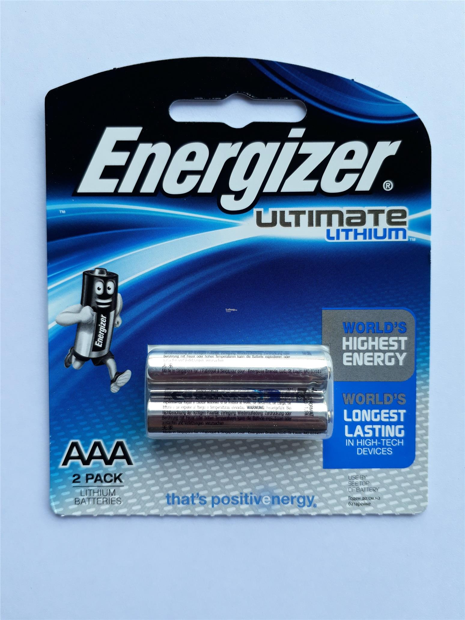 ENERGIZER ULTIMATE LITHIUM AAA 2 PACK (L92RP2)