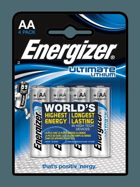 Energizer Ultimate Lithium Battery AA 4pc (L91RP4)