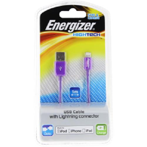 "Energizer USB Cable charge&data ""Hightech"" lightning - purple"